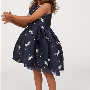NWT H&M Gorgeous Navy holiday dress, size 8-9y
